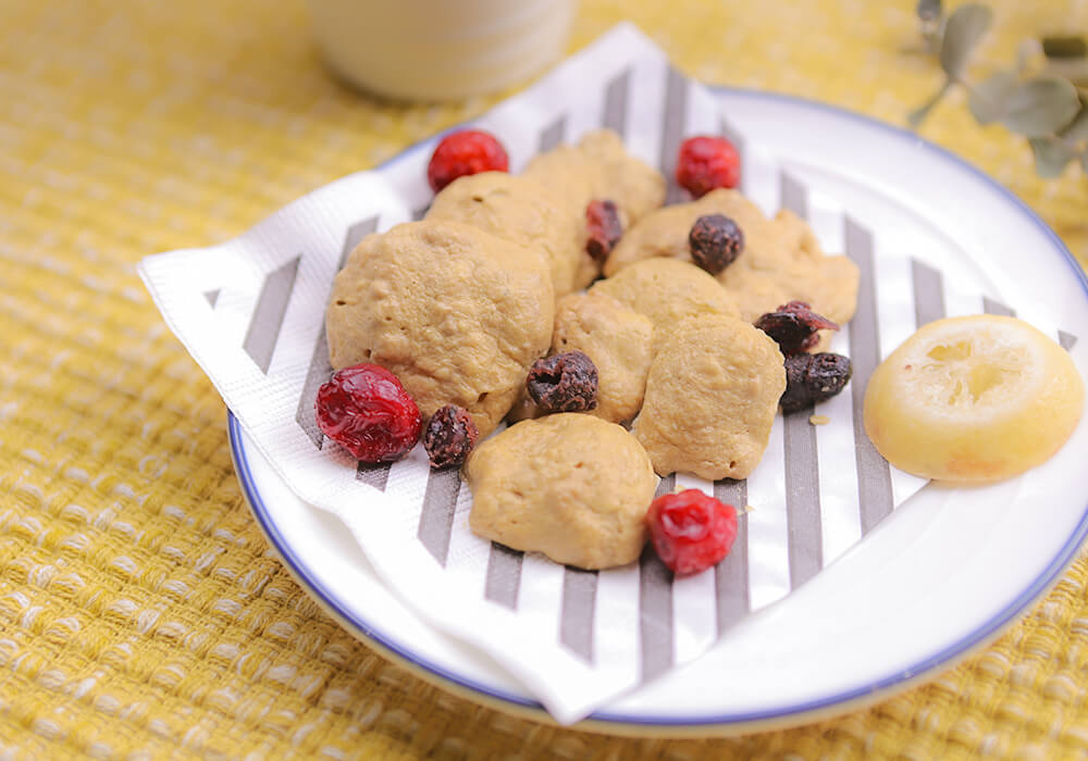 プロテイン入りクッキー(ココア風味&バナナ風味)