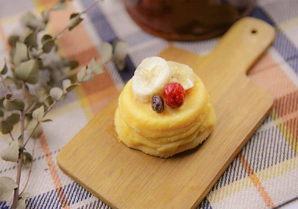 プロテイン入り蒸しパン(バナナ風味)