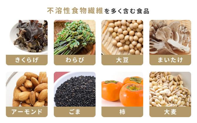 不溶性食物繊維を多く含む食品