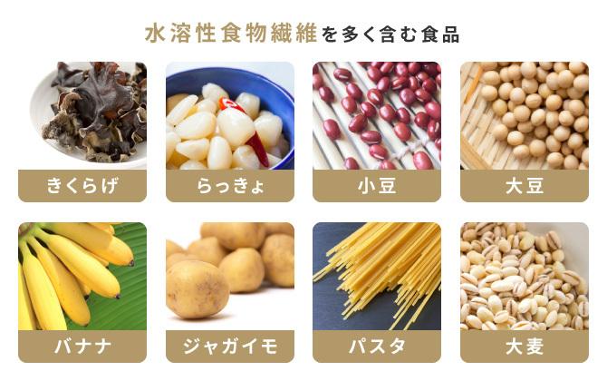 水溶性食物繊維を多く含む食品