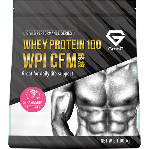 ホエイプロテイン100 WPI パフォーマンス ストロベリー風味 1kg - 01