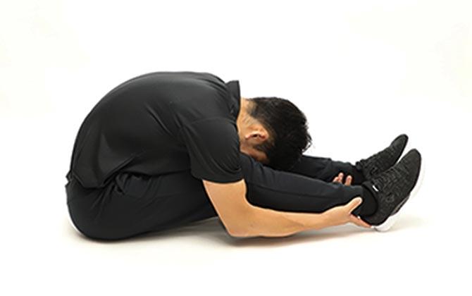 身体の背面のストレッチ
