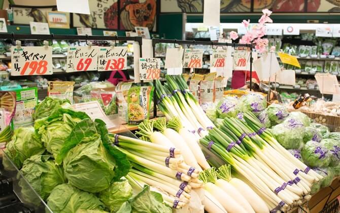 野菜を購入する