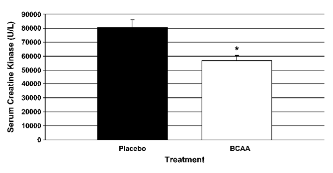 BCAA摂取によるCKの上昇