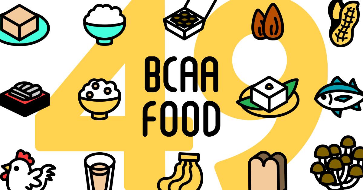 BCAAを含む食品を49種類ご紹介!