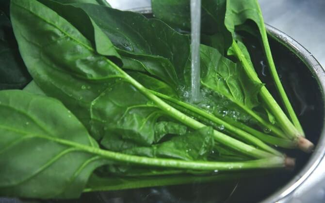 濃い緑の野菜