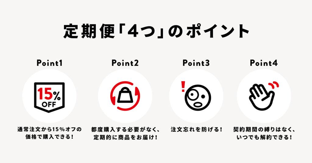 グロング公式オンラインショップ 定期便 4つのポイント